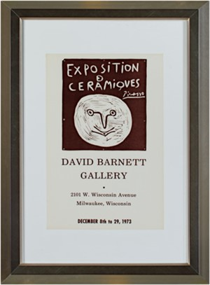 Exposition Ceramiques Picasso, David Barnett Gallery, 1973