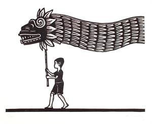 Niño con Quetzalcoatl (3/50), 2020