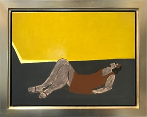 Sunning by a Yellow Pool, 2018