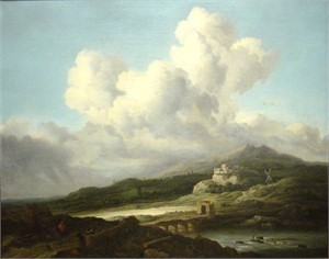 Follower of Jacob van Ruisdael - A Ray of Sunlight