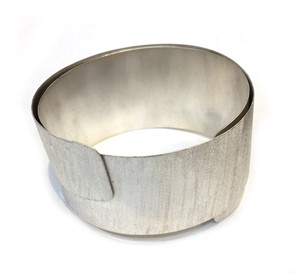 "Bracelet - Wide ""Sleeky"" Stainless Textured Cuff #7, 2019"