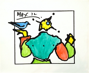 Harlequin with Dove, 1972