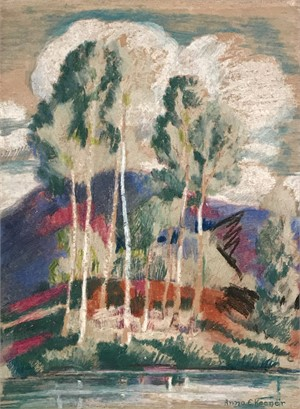 Untitled, Trees Across the Water, c. 1945