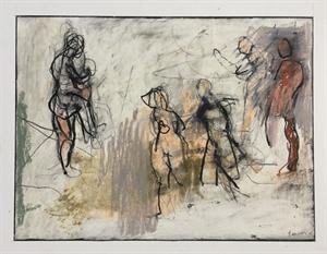 #10 Figure Study (5 figures) by Thaddeus Radell
