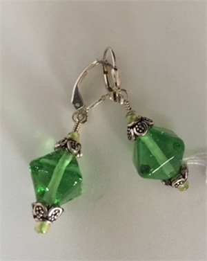 Earrings - Lampwork Beads & Sterling   #131, 2020