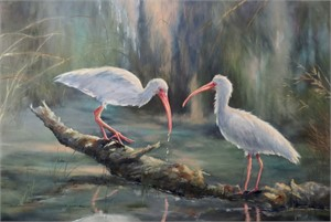 Two Ibis by Sherry Egger