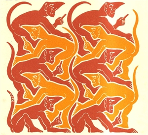 Fire; New Year's Greeting Card, 1953, 1952