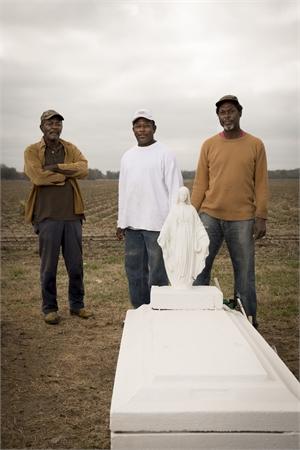 Willis Reed Sr, Willis Reed Jr, Dwayne Trepagnier, Waterproof, LA by Forest McMullin