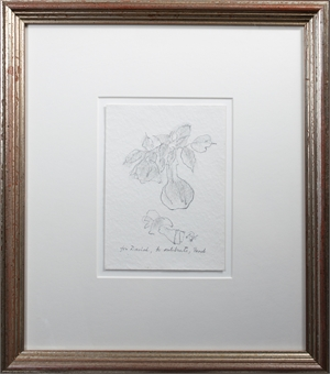 The Rose, signed in inscribed to DB, 1985