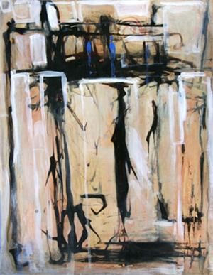 Open Series- Homage to Robert Motherwell #3, 2006