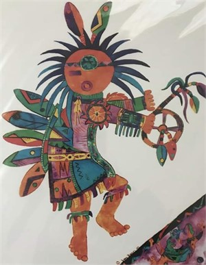 Kachina Spirit with Lizard, 2019