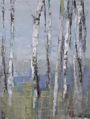 Birch by Lake