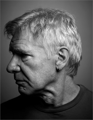 11012 Harrison Ford Profile Headshot, BW, 2011