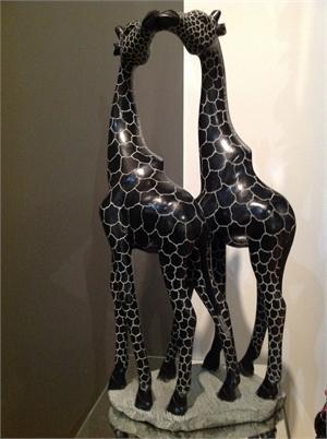 """""""Kissing Giraffes"""", 2017"""