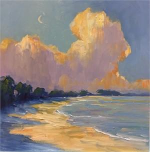 Crescent Moon Study by Linda Richichi