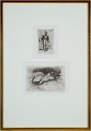 Top: Un Homme D'Arme du Temps de Francois 1er Bottom: Etude de Femme, Vue de Dos, 1833
