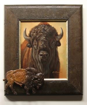 Head Of The Herd - Bronze Relief By Paul Rhymer, 2020