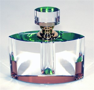 "Crystal Perfume Bottle 4"" x 3.75 x 1.25-S"