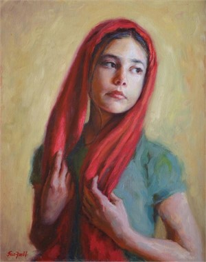 The Red Scarf-Study