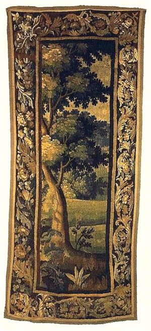 Aubusson Tapestry, French, early 18th century, foliage and flowers, Early 18th century