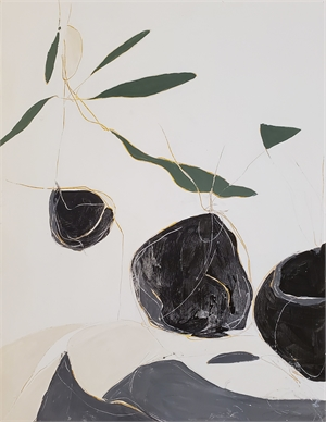 Seedlings in gray IV, 2020