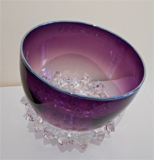 Thorn Vessel (Purple Plum/Silver) by Andrew Madvin