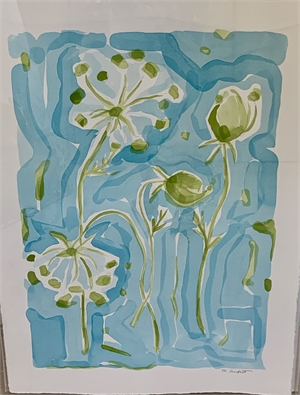 Queen Ann's Lace - Aqua I, 2019