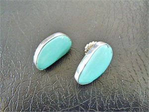 Sterling & Campitos Turquoise Post Earring