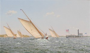 Regatta in Boston Harbor