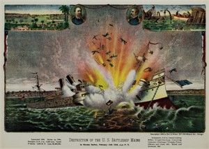 Destruction of the U.S. Battleship Maine, 1898