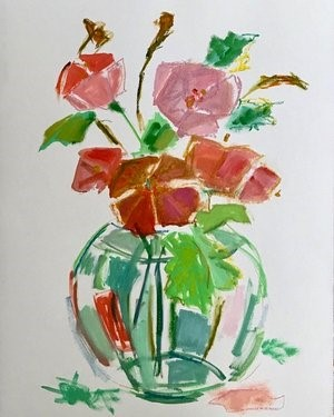 Poppies In A Vase, 2018