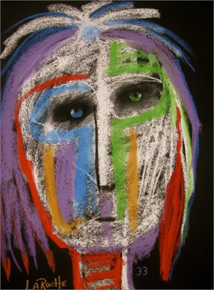 SOLD 'Green & Blue Eyes'