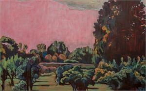 Pink Sky Fennville Landscape