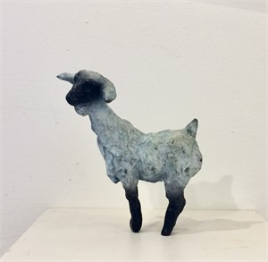 White and Black Goat, small, 2018