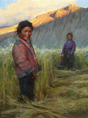 Tibetan Sisters by Scott Burdick