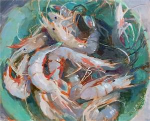 "JENNIFER T BLACK, ""Boiled Shrimp...Fried Shrimp"""