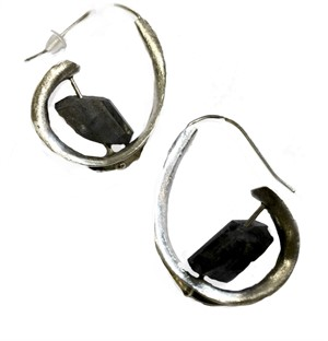 Earrings - Silver & Labradorite
