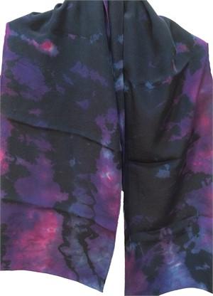 Scarf- Purple Reverse Shiboni Crepe #114