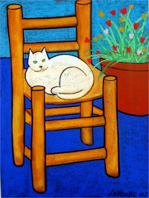 SOLD 'Cat on Chair'