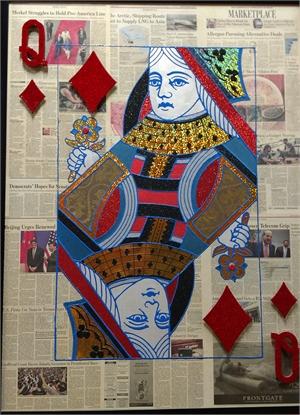 """Queen Of Diamonds"" Poker Card on Wall street Journal, 2017"