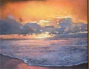 Pastel Sunset Surf, 2020