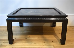 BLACK LACQUER AND  MOTHER OF PEARL INLAID LOW TABLE , Chinese, 18th century