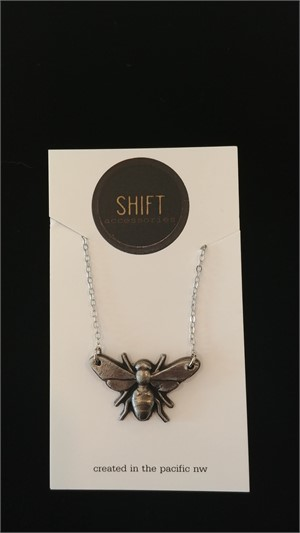 Steel Large Bee Necklace, 2019