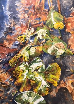 Water Lillies by Malou Flato