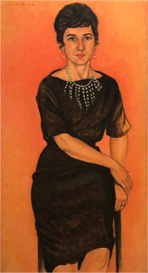Leila with Pearls, 1961