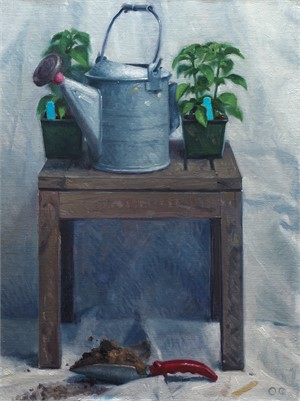 Trowel, Soil, and Watering Can by Ocean Quigley