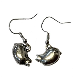Earrings-Plump Birds