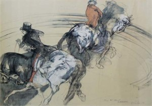 Two Horse Men (Dedicated to DB) (1/125), 1971