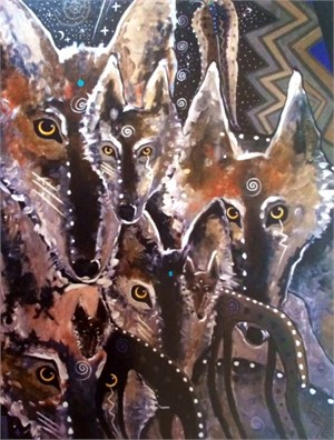 Notecard, Outcasts by Virginia Romero befitting Project Coyote