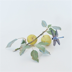 YELLOW PLUM BRANCH WITH WHISPER DRAGONFLY, 2013